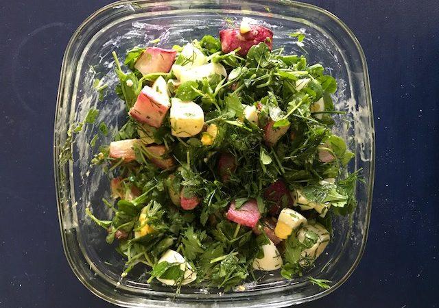 roasted turnip salad